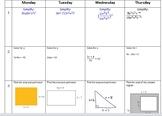 Do Now Math Drills - September - Algebra 1