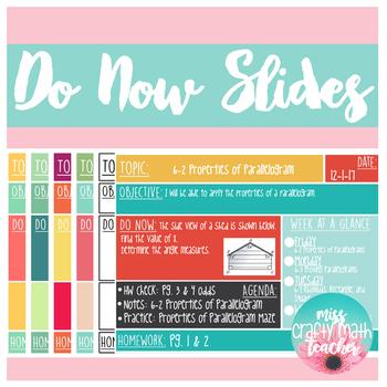 Do Now Slides