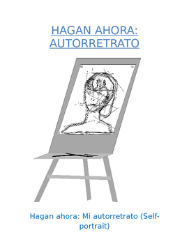 Do Now Sp1 or Sp2 - Mi autorretrato: Draw and Describe Yourself Graphic Org