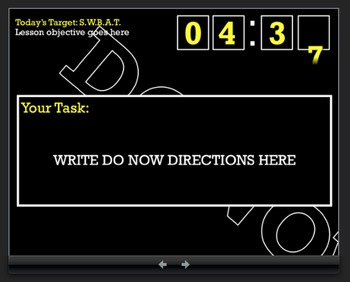 Do Now Timer, Exit Slip Timer, Powerpoint Timer, Classroom Timer *PC VERSION