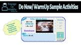 Do Now/WarmUp Sample Activities