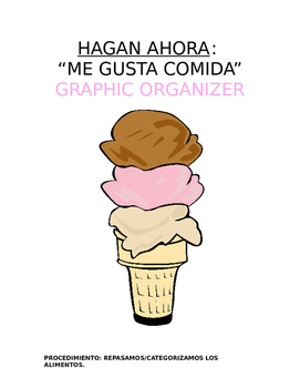 Do Now for All Levels - Me gusta la comida: Categorize Food Vocabulary