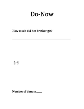 Do-Now for the fourth grade week 1