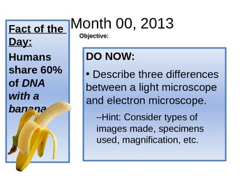 Do Nows & Fact of the Day Powerpoint, science