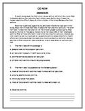 Do Nows/Comprehension Passages