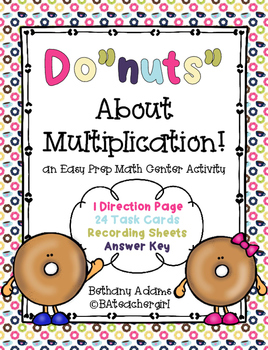 "Do""Nuts"" About Multiplication - Low Prep Math Center"