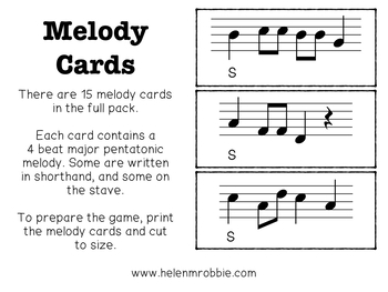 Do Pentatonic Melodic Bingo