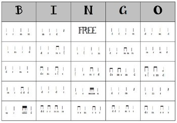 Melodic Bingo for Re