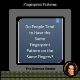 Do People Tend to Have the Same Fingerprint Pattern on the Same Fingers?