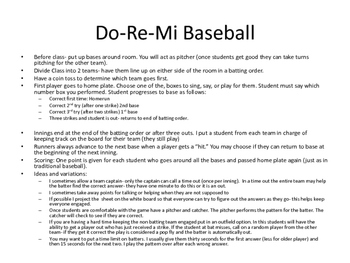 Do-Re-Mi Baseball