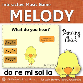 Spring Music Game: Do Re Mi Sol La Interactive Melody Game {Dancing Chick}