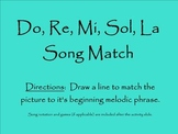 Do, Re, Mi, Sol, La Song Match