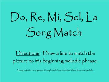 Do, Re, Mi, Sol, La Song Match