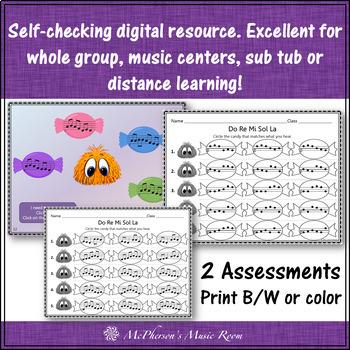 Do-Re-Mi-Sol-La Yum Yums Interactive Melody Game + Assessment