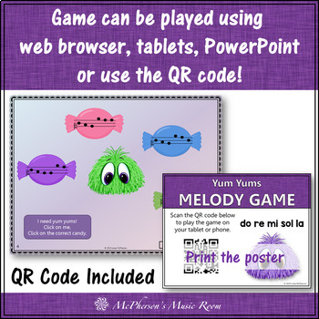 Music Game: Do Re Mi Sol La Interactive Melody Game + Assessment {Yum Yums}