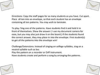 Do Re Mi Sol (So)  Practice Envelope Game