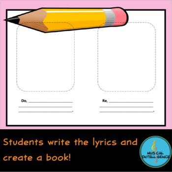 Do Re Mi Song Book - Multi Subject Activity! Music, Art, ELA/Writing!