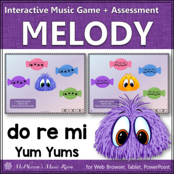 Music Game: Do Re Mi Interactive Melody Game + Assessment {Yum Yums}