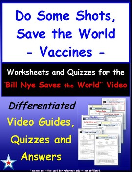 """Differentiated Video Guide, Quiz & Ans. for """"Do Some Shots, Save the World *"""""""