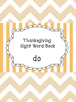 Do - Thanksgiving Sight Word Book