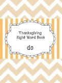 Do - Thanksgiving Sight Word Book