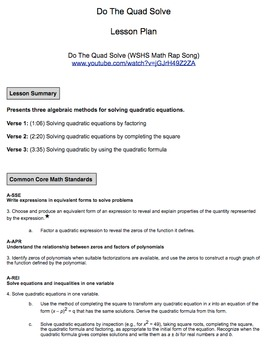 Do The Quad Solve (Official Guided Notes)