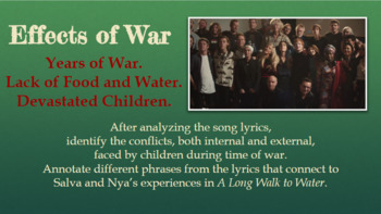 Do They Know It's Christmas Lyric Analysis and Connections to Long Walk to Water