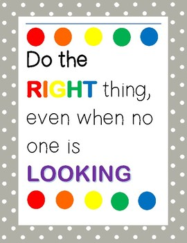 Do Thing Right Thing Poster