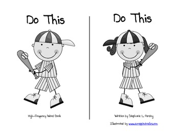 """""""Do This"""" High Frequency Word Book and Writing Prompt"""