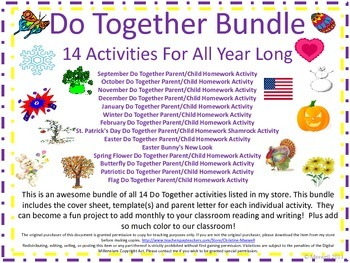 Do Together Holiday/Seasonal Bundle of 14 Activities For All Year Long
