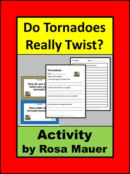 Do Tornadoes Really Twist Task Cards