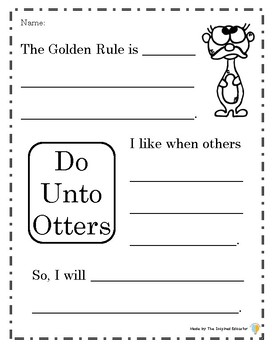 Do Unto Otters Activities By The Inspired Educator Tpt