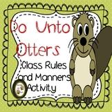 Do Unto Otters Book Companion and Activity