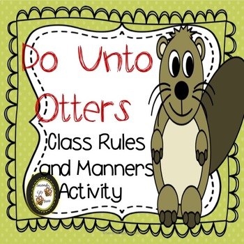 Do Unto Otters Book Companion and Activity