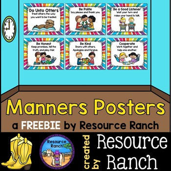 Do Unto Otters - FREE Manners Posters