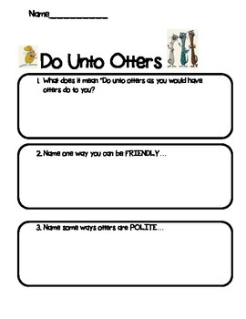 Do Unto Otters- Manners