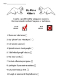 Do Unto Otters: Using Good Manners With Your Friends worksheet