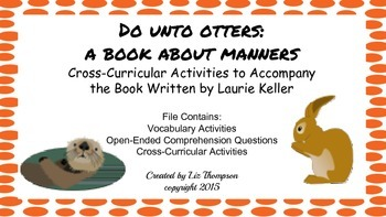 Do Untto Otters: A Book About Manners Mini Unit