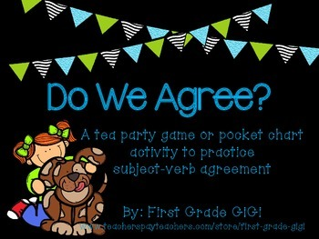 Do We Agree? Subject-Verb Agreement