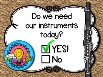 Do We Need Our Instruments Today Band Orchestra Music Classroom Poster Decor