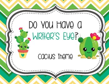 Do You Have a Writer's Eye? Cactus