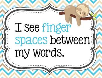 Do You Have a Writer's Eye? Sloth theme