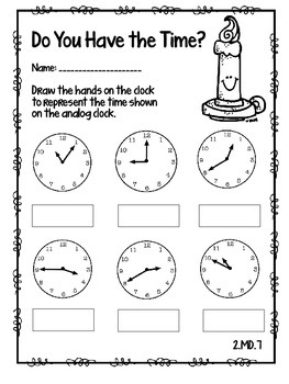 Do You Have the Time? Beauty and The Beast Themed Practice Sheets