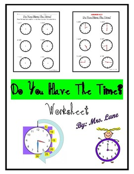 Do You Have the Time? (Worksheet)