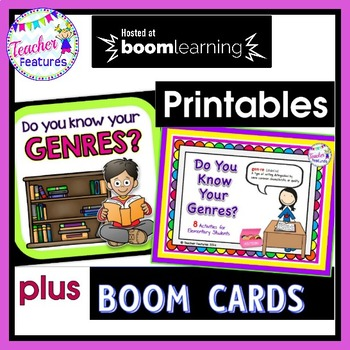 Reading Genres Games & More + ADDED BONUS: GENRES BOOM CARDS