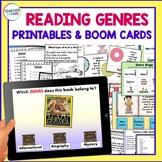 DIGITAL BOOM CARDS READING and ELA GENRES plus printable GAMES & WORD SORTS