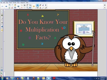 Do You Know Your Multiplication Facts?