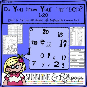 Math: Counting: Do You Know Your Numbers 1-20? Aligned with Kindergarten CC