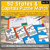 50 States & Capitals Puzzle Matching Game {Learn All 50 States & Their Capitals}
