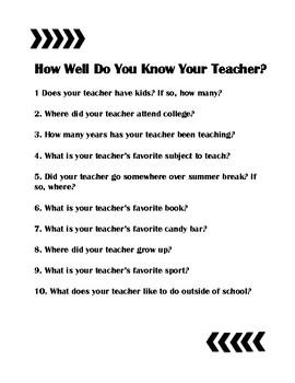 Do You Know Your Teacher?